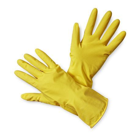 Rękawice gospodarcze lateksowe żółte-12833