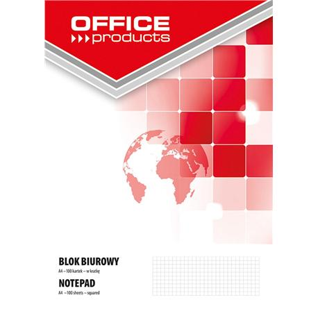 Blok biurowy Office Products A4 100k., kratka-12604