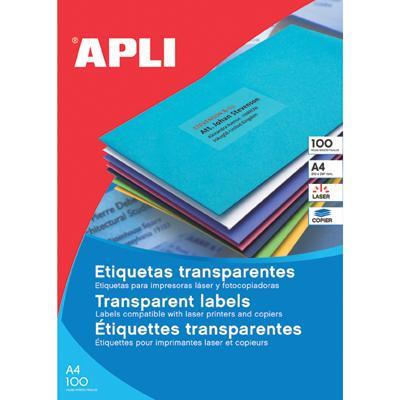 Etykiety Apli 210x297mm poliestrowe białe-4887