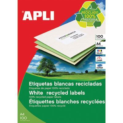 Etykiety Apli 210 x 297 mm Ekologiczne-1394