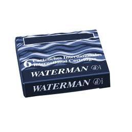 Naboje atramentowe Waterman internat. czarne (6)-8850