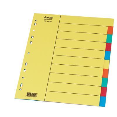 Przekładki kartonowe Bantex A4/10cz.6050-2112
