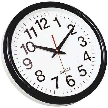 Zegar ścienny Q-Connect Tokyo 28cm czarny-10753