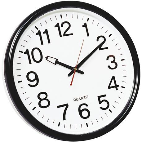 Zegar ścienny Q-Connect Wels 35cm czarny-10756