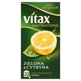 Herbata Vitax Zielona z cytryną, ekspresowa (20)