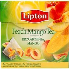 Herbata Lipton piramidka Peach Mango Tea 20 torebe