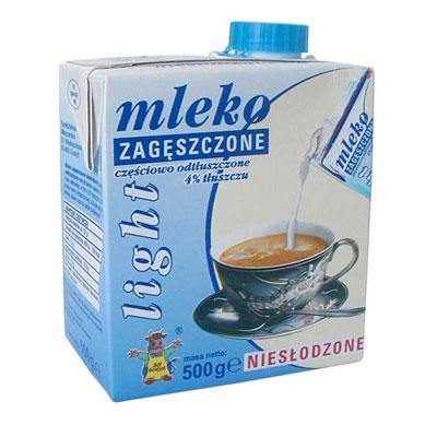 Mleko skondensowane Gostyń Light w kartonie 500ml-3526