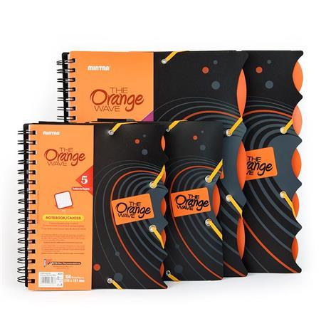 Kołonotatnik A5 Mintra Orange 150k kratka-15710