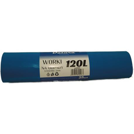 Worki 120l czarne LDPE Standard Datura (25)-16141