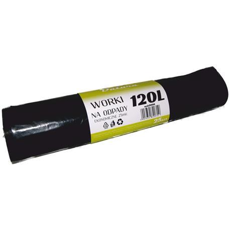 Worki 120l czarne LDPE Eko Datura (25)-16137