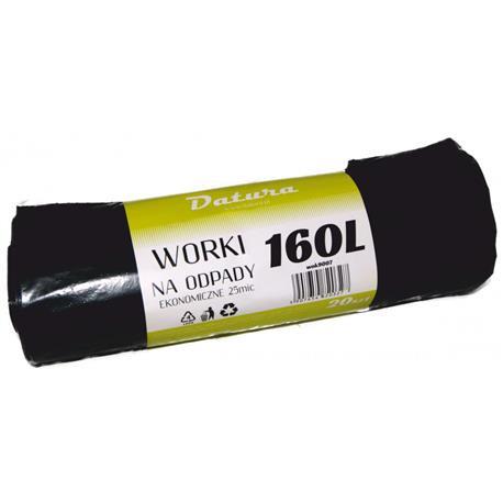 Worki 160l czarne LDPE Eko Datura (20)-16138