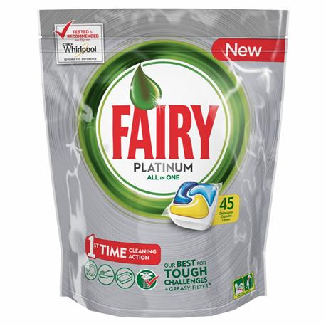 Fairy All in One kapsułki Platinum Lemon 45 szt-16419