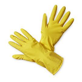 Rękawice gospodarcze lateksowe żółte