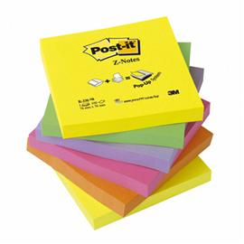 Bloczek Post-it Z-notes 76x76mm neon R330NR 6x100
