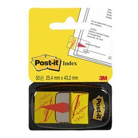 Zakładki indeks.Post-it - ręka + ołówek