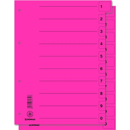 Przekładki kartonowe Donau kolor. A4 z perf. (50)-4247