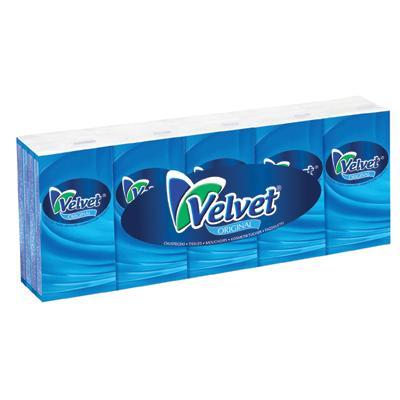 Chusteczki Velvet higieniczne z klipsem 10 x 10 sz-976