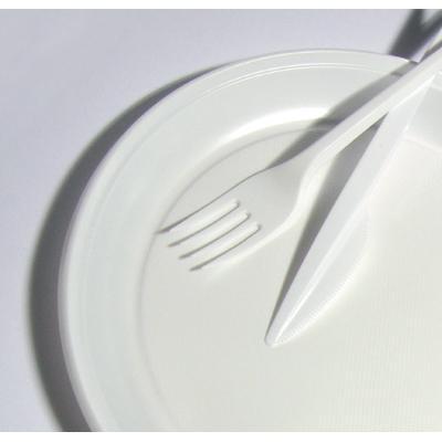 Talerz jednorazowy PS biały śr.22cm 100szt.-4035