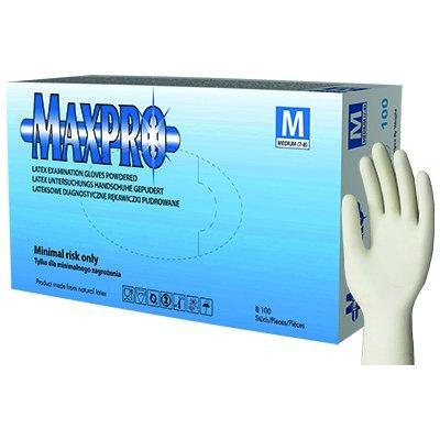 Rękawice lateksowe białe pudrowane L 100 szt.-12103