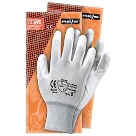 Rękawice powlekane RNYPO białe rozmiar 10