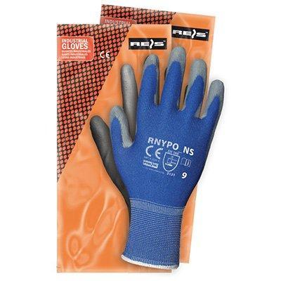 Rękawice powlekane RNYPO niebiesko-szare rozmiar 8-14483