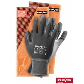 Rękawice powlekane RNYPO stalowo-szare rozmiar 8