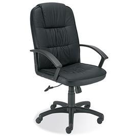 Krzesło obrotowe Ziko czarna skóra