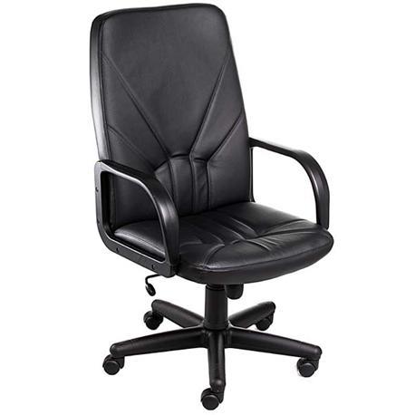 Krzesło obrotowe Manager KD czarna skóra-11390