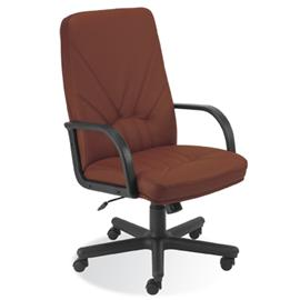 Krzesło obrotowe Manager KD brązowa skóra