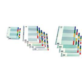 Przekładki plastikowe Bantex A4 Maxi 12 kolorów
