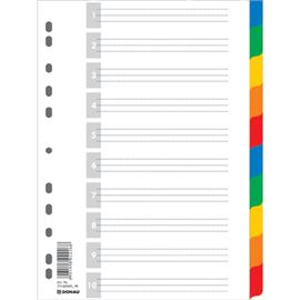 Przekładki plastikowe Donau A4 kolorowe 10cz.