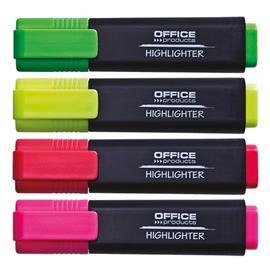 Zakreślacz Office Products 4 sztuki w etui