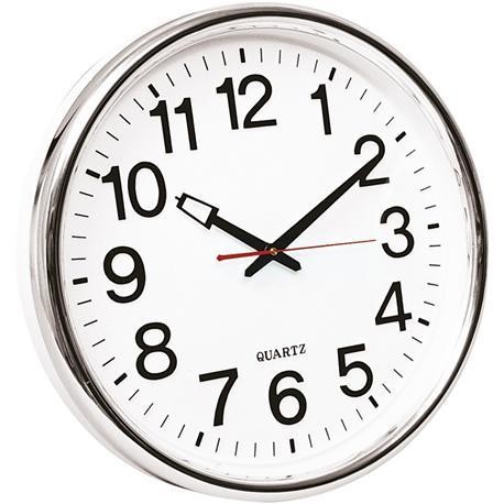 Zegar ścienny Q-Connect Warsaw 35cm srebrny-10755