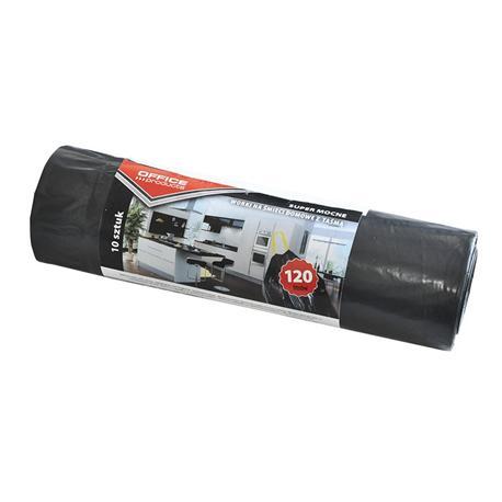 Worki 120l czarne z taśmą (10) Office Products -12430
