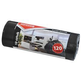 Worki 120l czarne grube na rolce (10) Office Produ