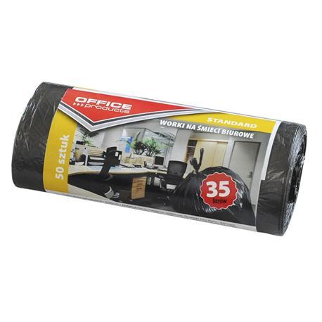 Worki 35l czarne cienkie na rolce Office Prod (50)-12645