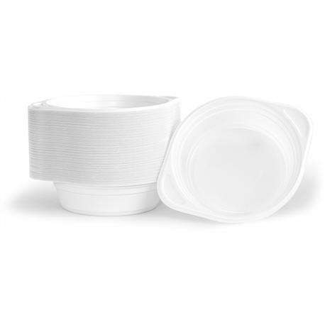 Miska flaczarka plastikowa biała 500ml (100szt)-12806