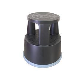 Taboret biurowy Q-Connect, mobilny plastik. czarny