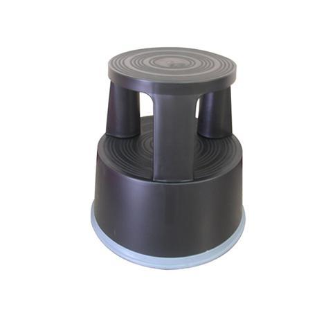 Taboret biurowy Q-Connect, mobilny plastik. czarny-14205