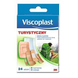 Plaster z opatrunkiem Vicoplast turystyczny24 szt.