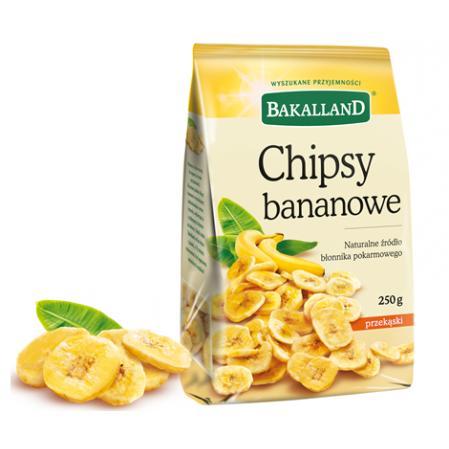Chipsy Bananowe Bakalland 250g torba-11385