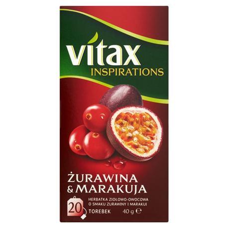 Herbata Vitax Żurawina z Marakują, ekspresowa (20)-13744