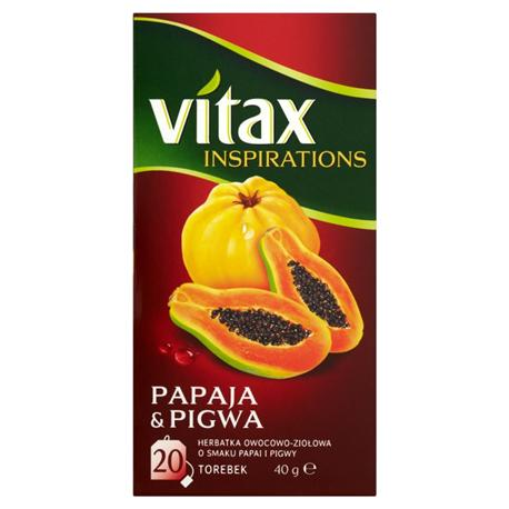 Herbata Vitax Papaja z Pigwą, ekspresowa (20)-13745