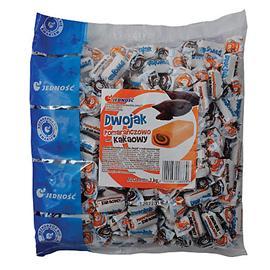 Cukierki Jedność Dwojak pomarańczowo-kakaowe 1kg