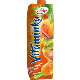 Sok Hortex Vitaminka Brzoskwinia Marchew Jabłko 1L