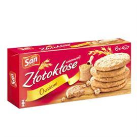 Ciastka San Złotokłose 171g owsiane