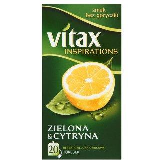 Herbata Vitax Zielona z cytryną, ekspresowa (20)-9582
