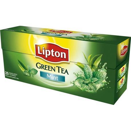 Herbata Lipton Green Tea Mint ekspresowa 25 tore-12318