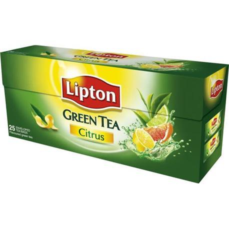 Herbata Lipton Green Tea Citrus ekspresowa 25 t-12316