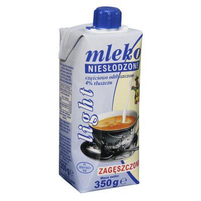 Mleko skondensowane Gostyń Light w kartonie 350ml-3528